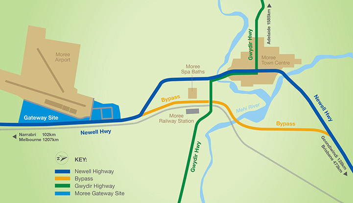 Moree Bypass Map